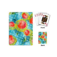 Red Cherries Playing Cards (mini)  by DanaeStudio