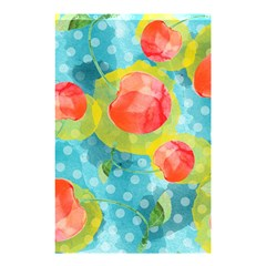 Red Cherries Shower Curtain 48  X 72  (small)  by DanaeStudio