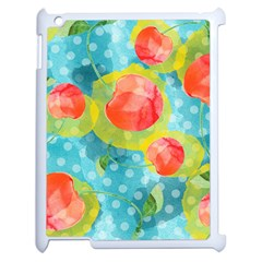 Red Cherries Apple Ipad 2 Case (white)