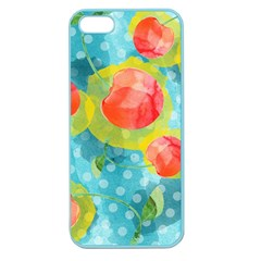 Red Cherries Apple Seamless Iphone 5 Case (color) by DanaeStudio