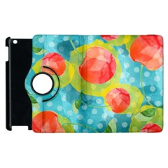 Red Cherries Apple Ipad 2 Flip 360 Case