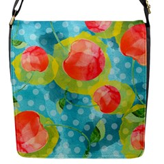 Red Cherries Flap Messenger Bag (s)
