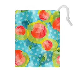 Red Cherries Drawstring Pouches (extra Large) by DanaeStudio
