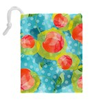 Red Cherries Drawstring Pouches (Extra Large) Back