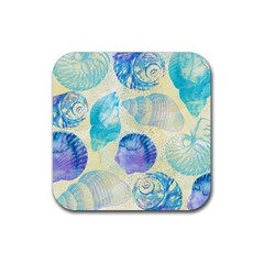 Seashells Rubber Square Coaster (4 Pack)