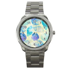 Seashells Sport Metal Watch by DanaeStudio