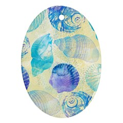 Seashells Oval Ornament (two Sides) by DanaeStudio