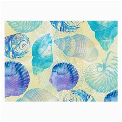 Seashells Large Glasses Cloth (2 Side) by DanaeStudio
