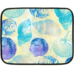 Seashells Double Sided Fleece Blanket (mini)  by DanaeStudio