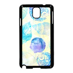 Seashells Samsung Galaxy Note 3 Neo Hardshell Case (black) by DanaeStudio