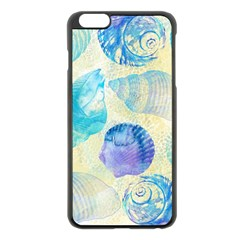 Seashells Apple Iphone 6 Plus/6s Plus Black Enamel Case by DanaeStudio