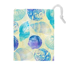 Seashells Drawstring Pouches (extra Large) by DanaeStudio