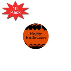 Happy Halloween   Owls 1  Mini Buttons (10 Pack)  by Valentinaart