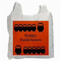 Happy Halloween   Owls Recycle Bag (two Side)  by Valentinaart