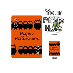 Happy Halloween   Owls Playing Cards 54 (mini)  by Valentinaart