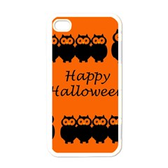 Happy Halloween   Owls Apple Iphone 4 Case (white) by Valentinaart