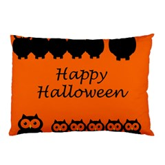 Happy Halloween   Owls Pillow Case (two Sides)