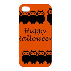 Happy Halloween   Owls Apple Iphone 4/4s Hardshell Case by Valentinaart