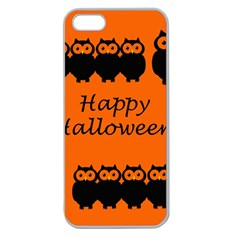 Happy Halloween   Owls Apple Seamless Iphone 5 Case (clear) by Valentinaart