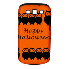 Happy Halloween   Owls Samsung Galaxy S Iii Classic Hardshell Case (pc+silicone) by Valentinaart