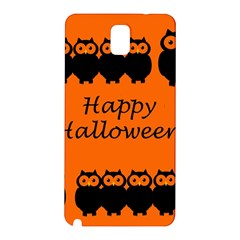 Happy Halloween   Owls Samsung Galaxy Note 3 N9005 Hardshell Back Case by Valentinaart