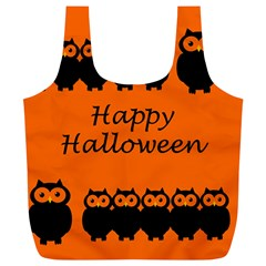 Happy Halloween   Owls Full Print Recycle Bags (l)  by Valentinaart