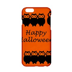 Happy Halloween   Owls Apple Iphone 6/6s Hardshell Case by Valentinaart