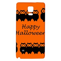 Happy Halloween   Owls Galaxy Note 4 Back Case by Valentinaart