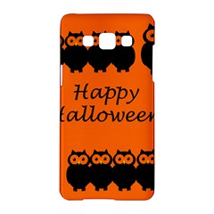 Happy Halloween   Owls Samsung Galaxy A5 Hardshell Case  by Valentinaart