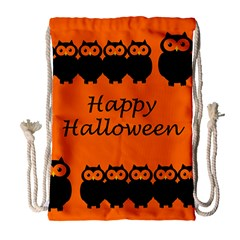 Happy Halloween   Owls Drawstring Bag (large)