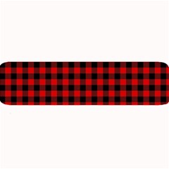 Lumberjack Plaid Fabric Pattern Red Black Large Bar Mats by EDDArt