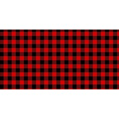 Lumberjack Plaid Fabric Pattern Red Black YOU ARE INVITED 3D Greeting Card (8x4)