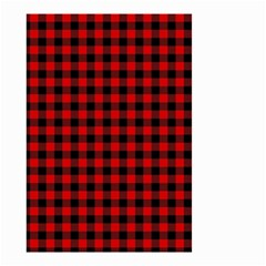 Lumberjack Plaid Fabric Pattern Red Black Small Garden Flag (Two Sides)