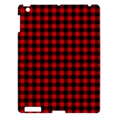 Lumberjack Plaid Fabric Pattern Red Black Apple Ipad 3/4 Hardshell Case by EDDArt