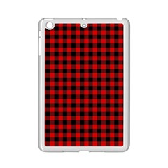 Lumberjack Plaid Fabric Pattern Red Black Ipad Mini 2 Enamel Coated Cases by EDDArt