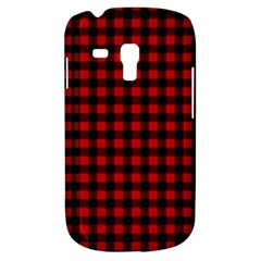 Lumberjack Plaid Fabric Pattern Red Black Samsung Galaxy S3 Mini I8190 Hardshell Case by EDDArt
