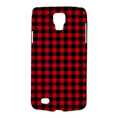 Lumberjack Plaid Fabric Pattern Red Black Galaxy S4 Active