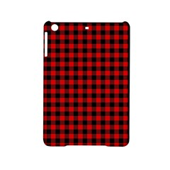Lumberjack Plaid Fabric Pattern Red Black Ipad Mini 2 Hardshell Cases by EDDArt