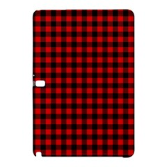 Lumberjack Plaid Fabric Pattern Red Black Samsung Galaxy Tab Pro 12 2 Hardshell Case by EDDArt