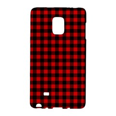 Lumberjack Plaid Fabric Pattern Red Black Galaxy Note Edge by EDDArt