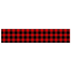 Lumberjack Plaid Fabric Pattern Red Black Flano Scarf (Small)