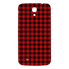 Lumberjack Plaid Fabric Pattern Red Black Samsung Galaxy Mega I9200 Hardshell Back Case by EDDArt