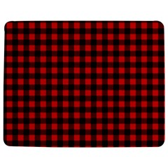 Lumberjack Plaid Fabric Pattern Red Black Jigsaw Puzzle Photo Stand (rectangular) by EDDArt