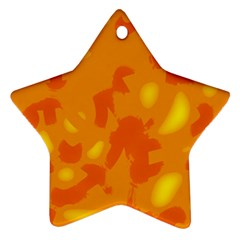 Orange Decor Star Ornament (two Sides)  by Valentinaart