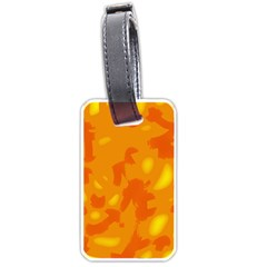 Orange Decor Luggage Tags (two Sides) by Valentinaart