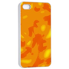 Orange Decor Apple Iphone 4/4s Seamless Case (white)