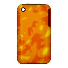 Orange Decor Apple Iphone 3g/3gs Hardshell Case (pc+silicone) by Valentinaart