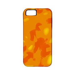 Orange Decor Apple Iphone 5 Classic Hardshell Case (pc+silicone) by Valentinaart