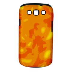 Orange Decor Samsung Galaxy S Iii Classic Hardshell Case (pc+silicone) by Valentinaart