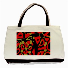 Red Artistic Design Basic Tote Bag (two Sides) by Valentinaart